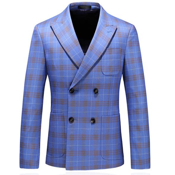 2020 Fashion Plaid Tuxedo Wedding Suits