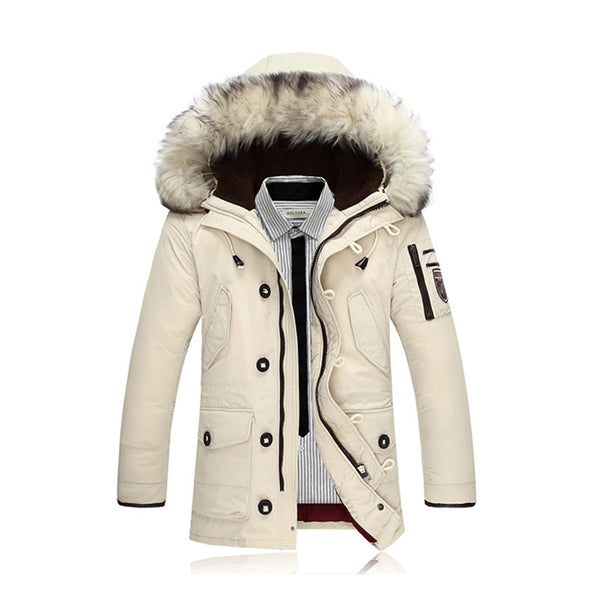 New Men Fashion Hooded Thick Windproof Coat
