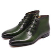 2020 New Men High Top Zipper Lace-up Business Leather Shoes