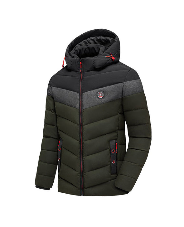 Men New Thick Warm Hooded Windproof Down Coat