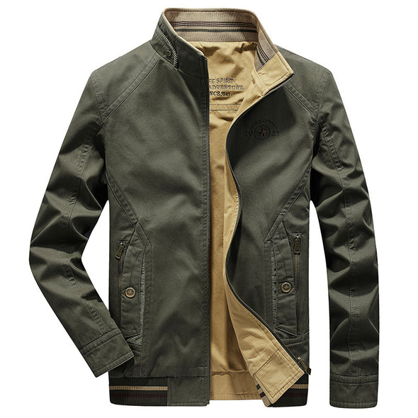 New Men Plus Fashion Stand-up Collar Jacket