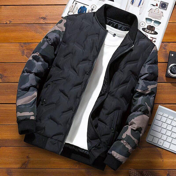 Mens Winter Jackets and Coats  Camouflage Bomber Jacket