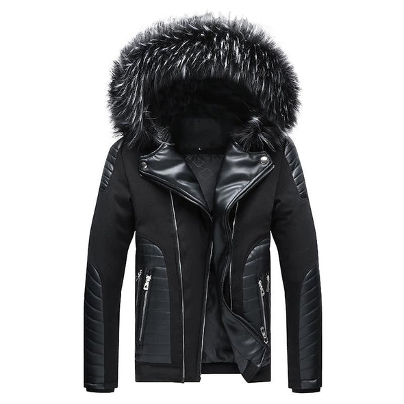 2020 Men's New Winter Personal Jacket Leather Coat
