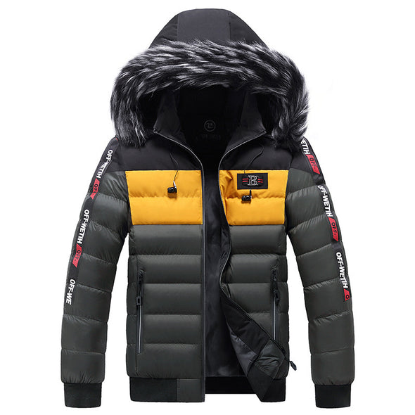 New Men Casual Fit  Side Pocket Thicken Down Jacket