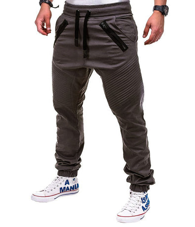 New Men Fit Casual Solid Long Pants