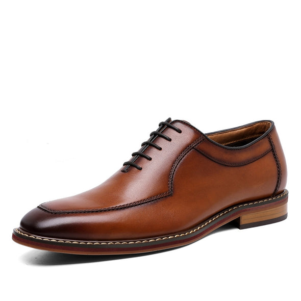 Men's Dress Shoes Formal Business Lace-up Full Grain Leather Minimalist Shoes for Men