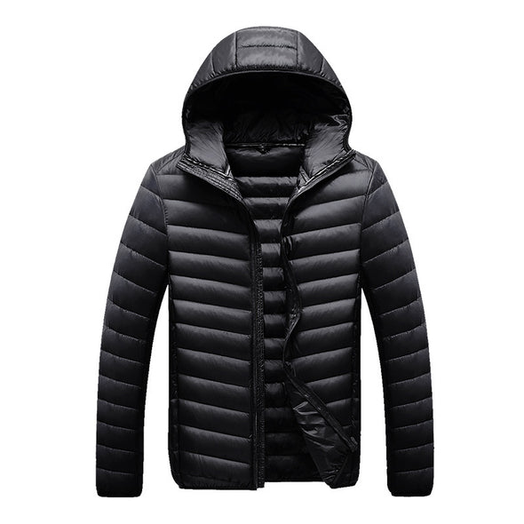 New Men's Lightweight Down Jacket Short Hooded