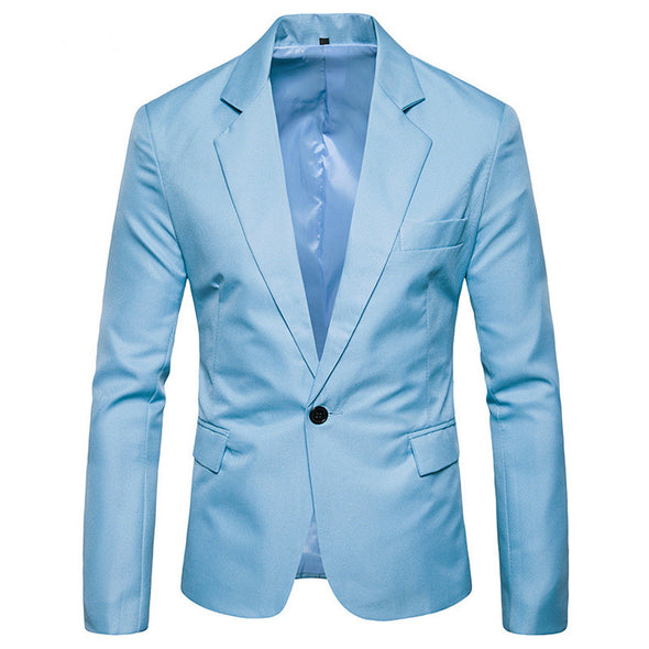 Men's Fall Blazer Regular Solid Colored Daily Business Long Sleeve