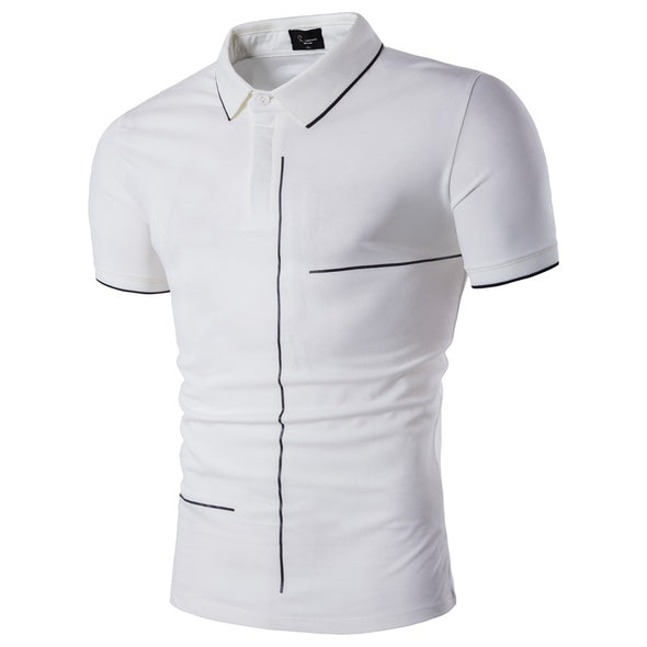Men's  Business Casual  Polo High Quality Cotton Shirt