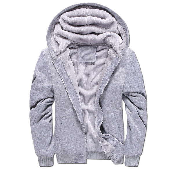 Sports Casual Zipper  Sweatshirt Fleece Hoodies