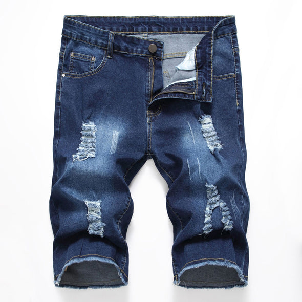 Men's Fashion Casual New Short Jeans