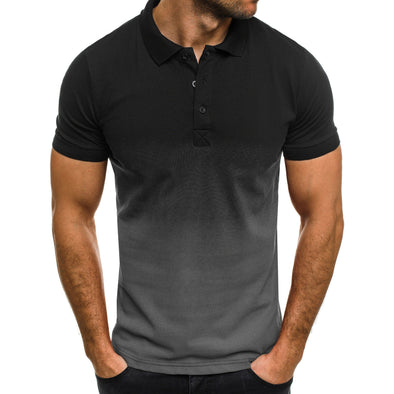 Men's New Collar Short Sleeves Breathable Formal US Size Polo Clothing