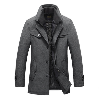 Men's Fashion Cotton Thick Collar Muliticolor Coat