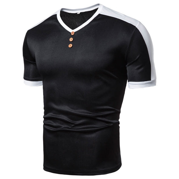 Men's Splice Casual Sports Comfortable T-shirt
