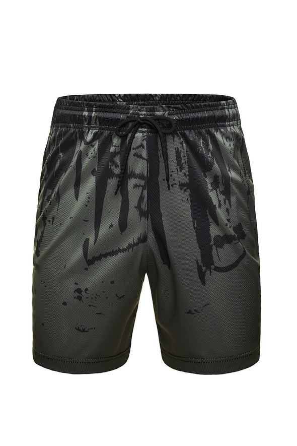 Men's Fitness Short Pants Quick Dry Summer Print Casual