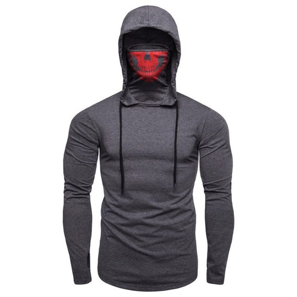 2020 New Men Halloween Solid Color Skull Mask Fashion Hoodies