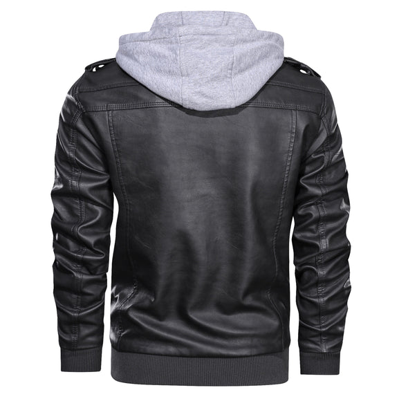 Large Size Motor Casual Leather Jackets
