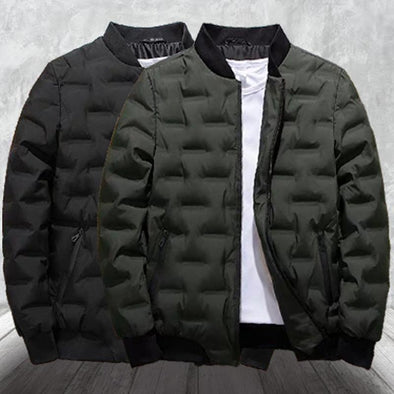 Winter Men Coats Pure Color Bomber Jacket