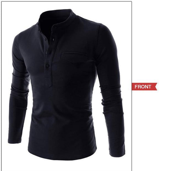 Long Sleeve Polo Shirt 701