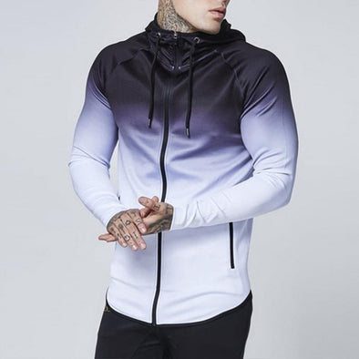 Men's Gradient Streetwear Zipper Sweatshirt Tops