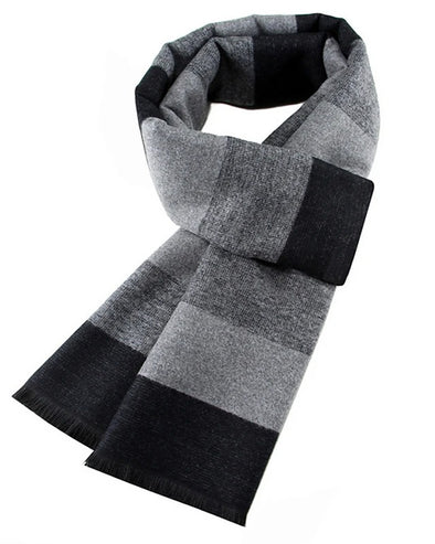Men's Basic Striped Rectangle Scarf