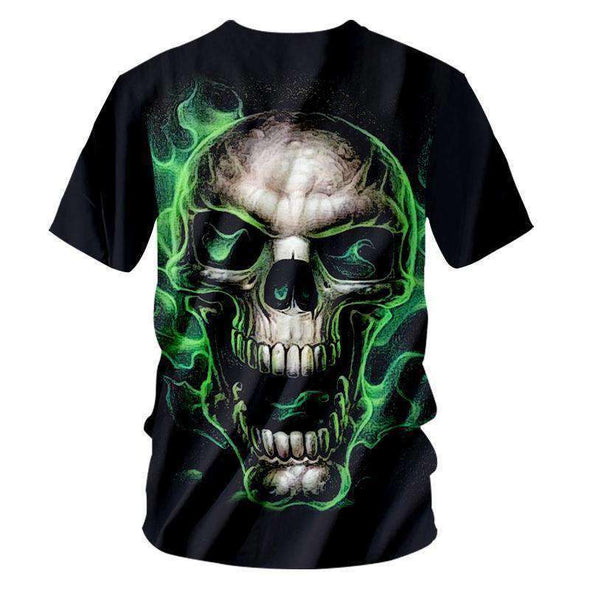 NEW T-shirt Men Skull T Shirt Metal