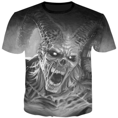 kull print T shirt Blood Clothes Funny Clothing