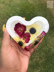 Rose/Sunflower Resin Ashtray