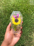 Sunflower Coffin Trinket Box