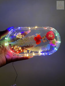Floral Aquatic LED Rolling Tray