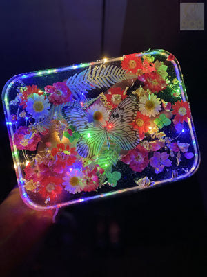 XXL Butterfly Baby Rainbow LED Rolling Tray