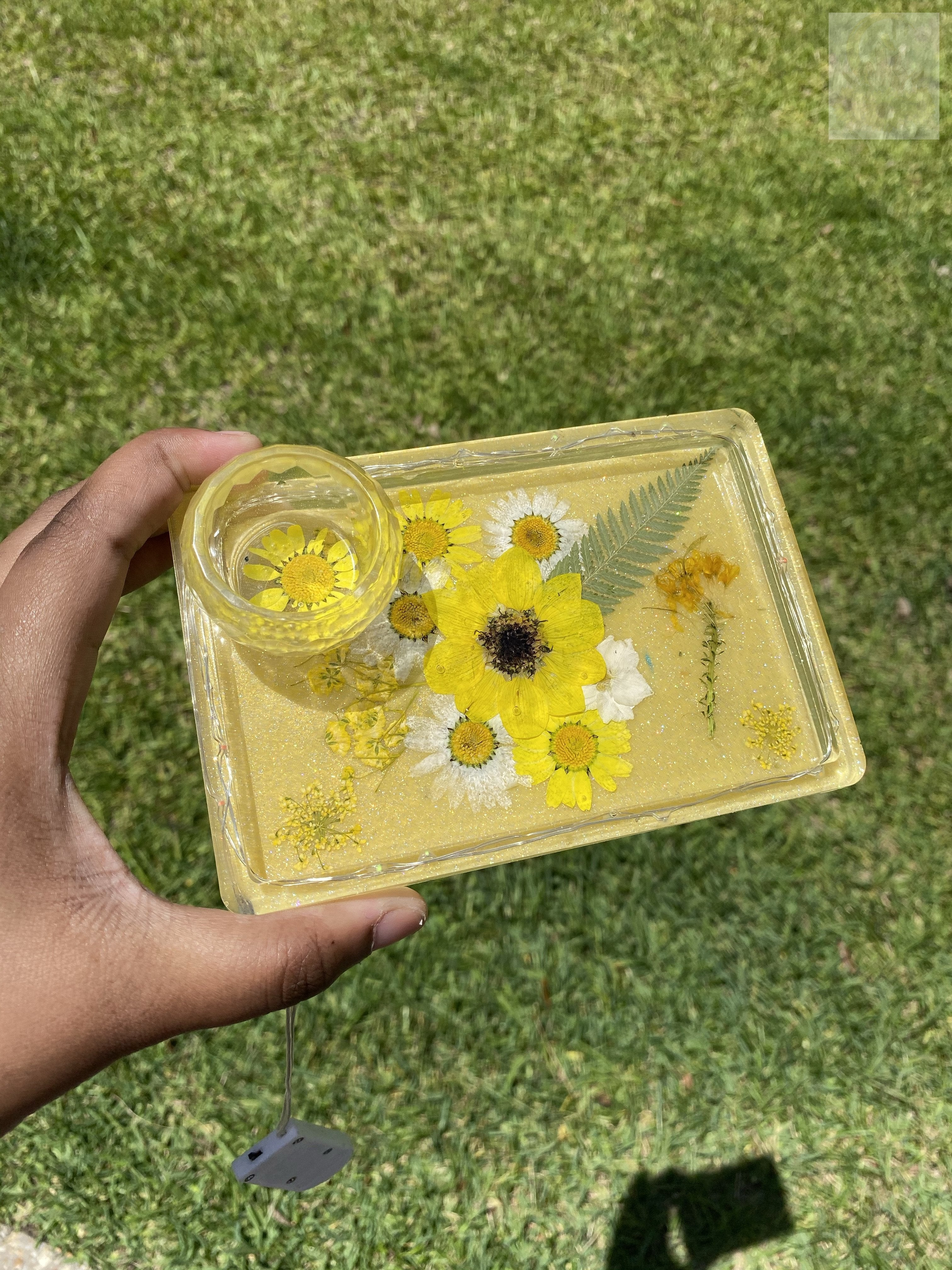 Groovy Mini Sunflower LED Rolling Tray