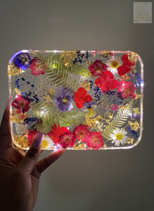 Large Mini Rose LED Rolling Tray
