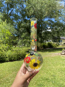 "Yellow / Red / Green 10"" Bong"