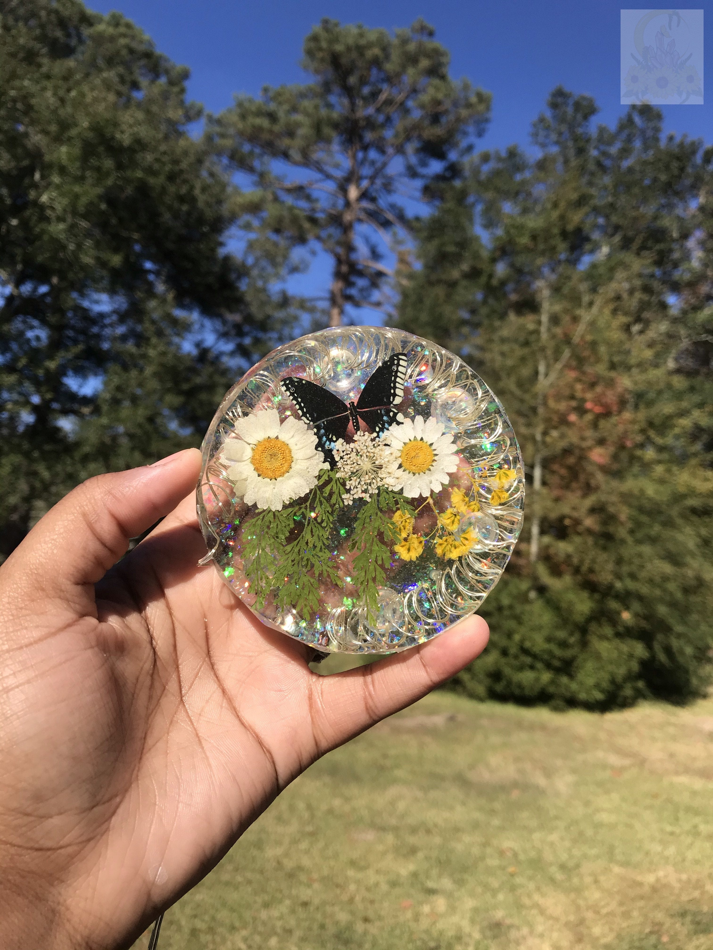 Light Up Daisy Coaster