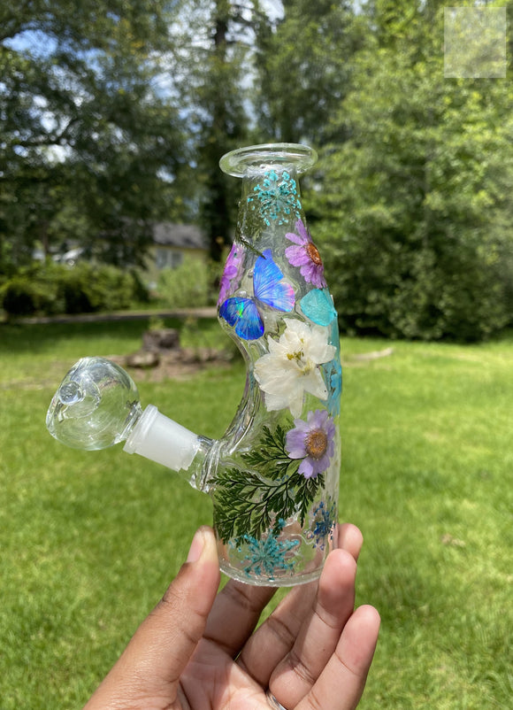 "Purple / Blue 7"" Milk Jug Water Pipe"
