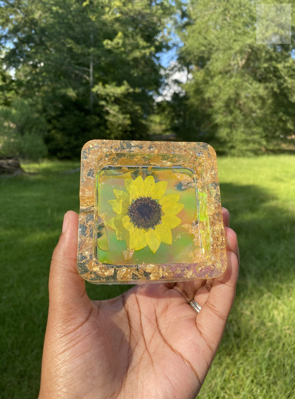 Sunflower Iridescent Ashtray