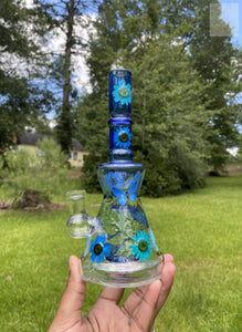 "9"" ' Blues ' Dab Rig"