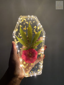 Rose Bud LED Coffin Tray