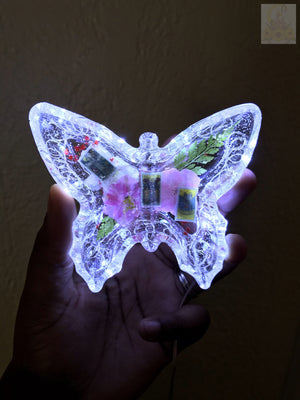 Tarot Card Butterfly LED Trinket Dish