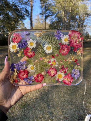 Floral Large LED Rolling Tray