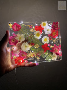 Red Bouquet LED Rolling Tray