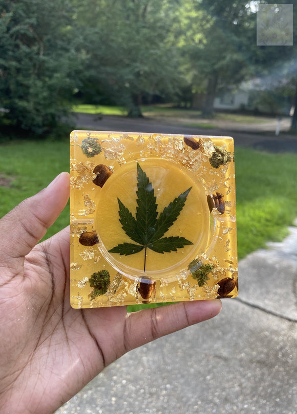 Square 420 Mustard Wake and Bake Ashtray