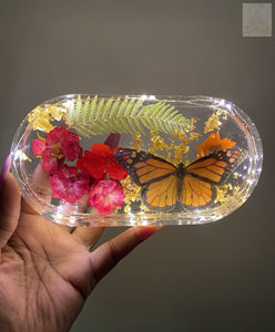 Monarch Rose LED Rolling Tray