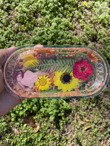 Floral Rainbow LED Rolling Tray
