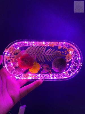 Floral Pink LED Rolling Tray