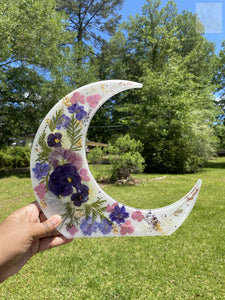 Purple Crescent Moon Wallhanging