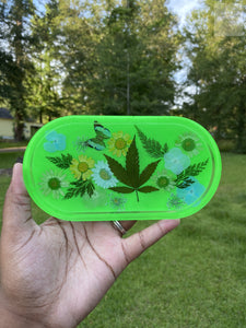 Neon Green Rolling Tray