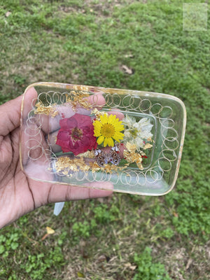 Mini Floral Colorful LED Rolling Tray