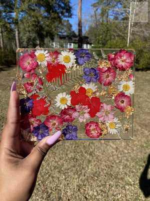Medium Floral LED Rolling Tray
